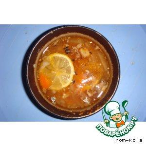 Рецепт: Суп Рыбная солянка