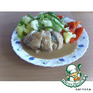 Рецепт: Фаршированные куриные окорочка