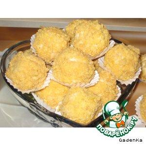 Рецепт: Конфеты «Кокосовые ежики»