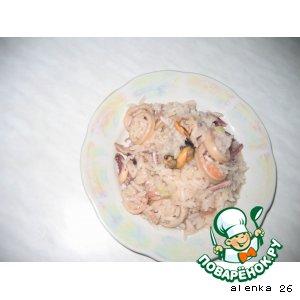 """Рецепт: """"Плов"""" с морепродуктами"""