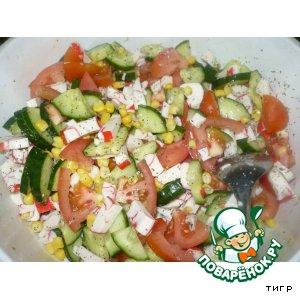 Рецепт: Салат крабовый