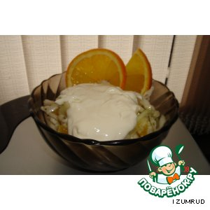 Рецепт: Салат из капусты и апельсина