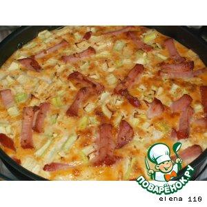 Рецепт: Кабачки в сливочном соусе