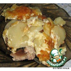 Рецепт: Мясо с картошкой по-французки