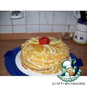 Рецепт: Кабачково-яичный торт закусочный