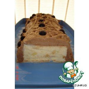 Рецепт: Ананасовый торт-мороженое