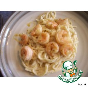 Рецепт: Shrimp linguini