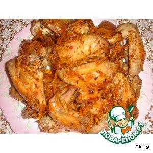 Рецепт: Цитрусовые крылышки