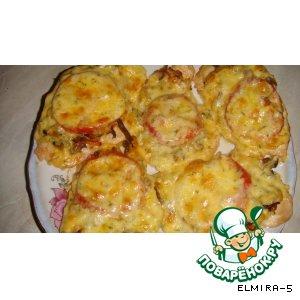 Рецепт: Куриные отбивные с помидорами