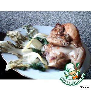 Рецепт: Курочка острая с капустой по-корейски