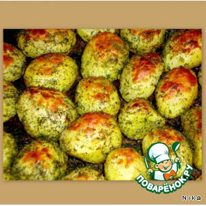 Рецепт: Картофель с румяной корочкой