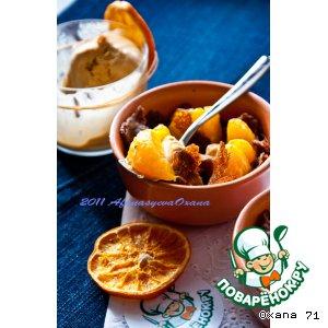 Рецепт: Кокот с шоколадными блинчиками и мандаринами