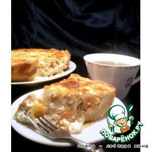 Рецепт: Луковый пирог с семгой
