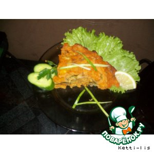 "Рецепт: Морковная запеканка с курицей ""Эвридика"""