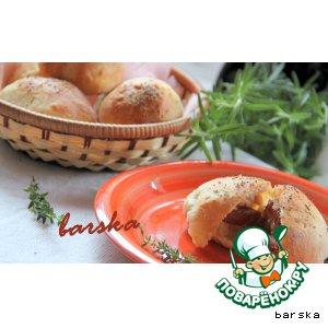 Рецепт: Творожные булочки с финиками в беконе