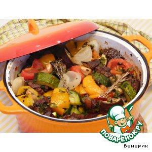 Рецепт: Овощное рагу с дичью