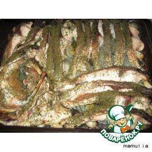 """Рецепт: Рыба запечeнная """"По-Ирански"""""""