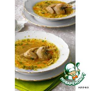 Рецепт: Суп-лапша с перепелками