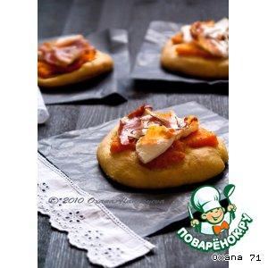 Рецепт: Пиццетте с тыквой, ветчиной и рикоттой