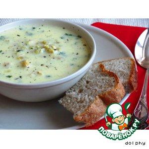 Рецепт: Перловый суп с йогуртом