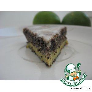 Рецепт: Маковый пирог с лимонной глазурью