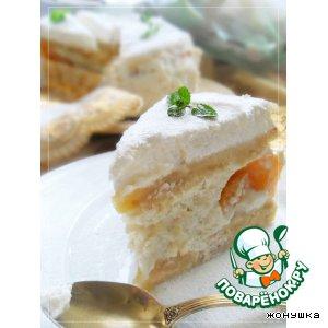 """Рецепт: Воздушный торт """"Снежинка"""""""