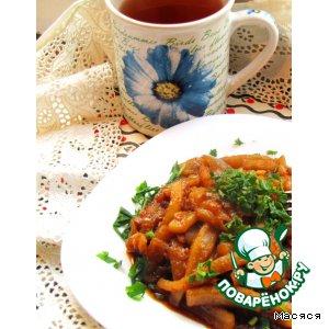 Рецепт: Кальмары по-китайски