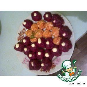Рецепт: Селедка в шарике