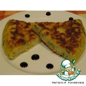 Рецепт: Картофельный пирог с петрушкой