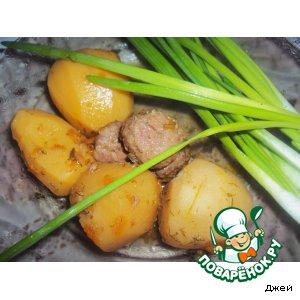 Рецепт: Картофель в горшочках От бабули