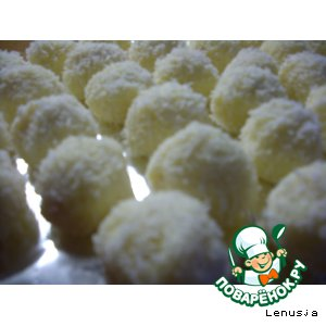 Рецепт: Домашние конфеты Рафаэлло