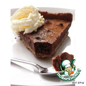Рецепт: Шоколадно-кофейный пирог с черносливом