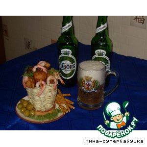 Рецепт: Съедобная корзинка к пиву
