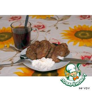 Рецепт: Оладьи мясные с грибами