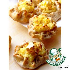 """Рецепт: Мини-пирoжки пшеничнo-oвсяные с картoшкoй на манер """"Калитoк"""""""