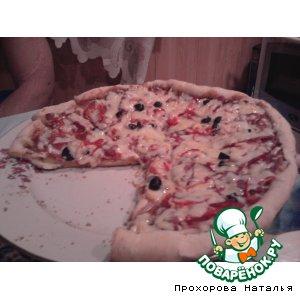 """Рецепт: Пицца """"Вкусное настроение"""""""