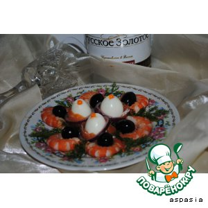 Рецепт: Закуска с креветками Уно моменто!