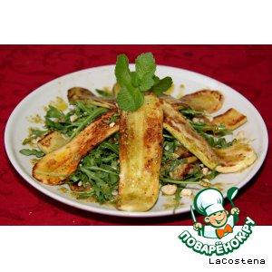 Рецепт: Теплый салат с рукколой