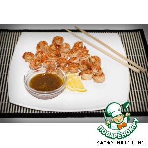Рецепт: Креветки с соусом