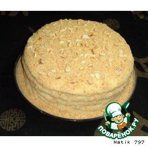 Рецепт: Нежный творожный торт Семейный