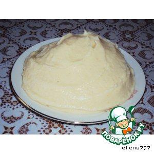 Рецепт: Крем заварной Молочно-сливочный