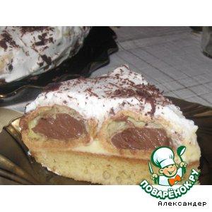 Рецепт: Торт с профитролями Небесная подушка