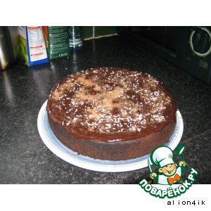 Рецепт: Творожно-шоколадный пирог