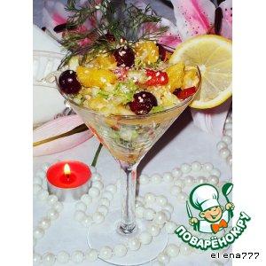 "Рецепт: Салат-коктейль ""Услада Раджи"""
