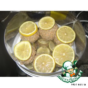 Fish cakes in a double boiler