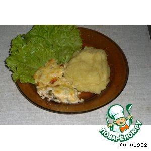 Рецепт: Мидии, запеченные в сырно-чесночном соусе