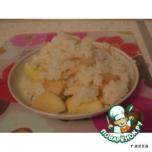 Рецепт: Рисовая каша, запеченная с яблоками