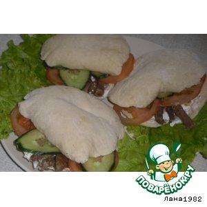Рецепт: Пита с овощами и мясом