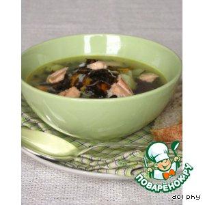 Рецепт: Рыбный суп с морской капустой