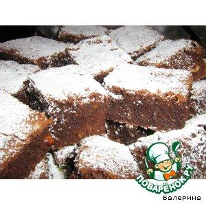 Рецепт: Карибское пирожное с имбирем, арахисом и коньяком